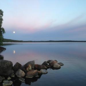 Månljus över Göksjön