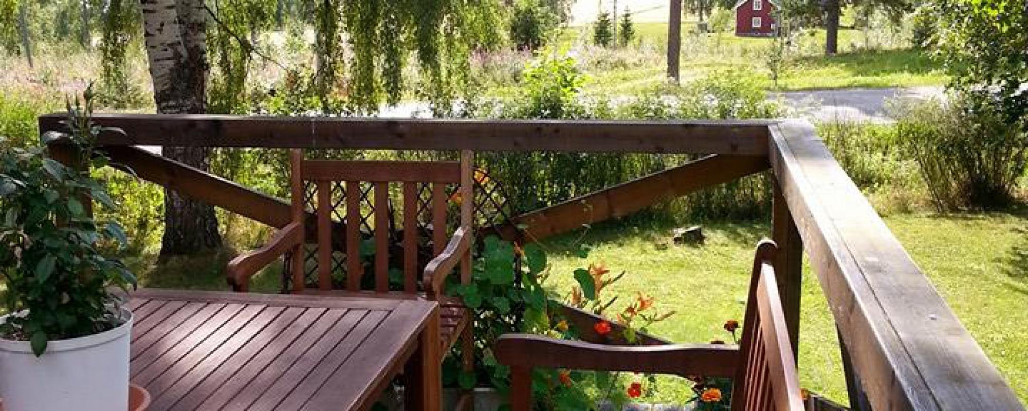 View from the veranda of the Villa Insight