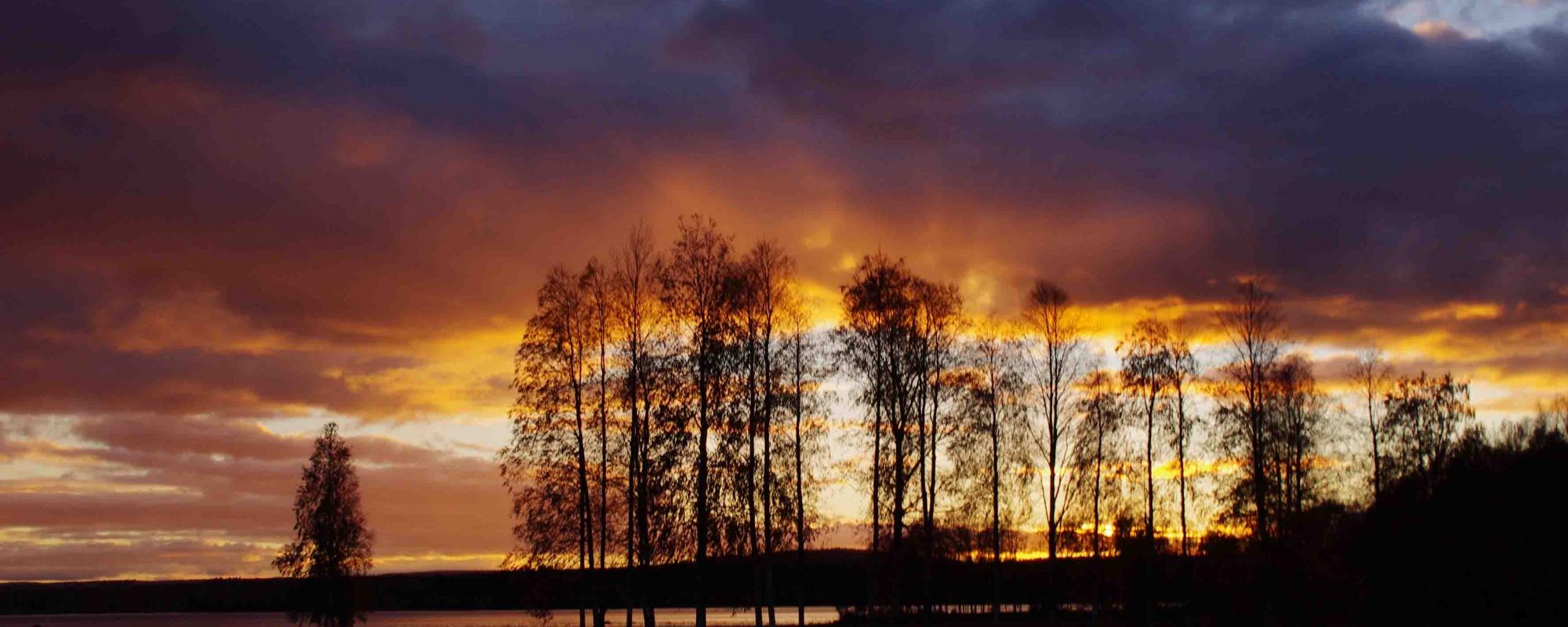 Autumn evening in Innansjön