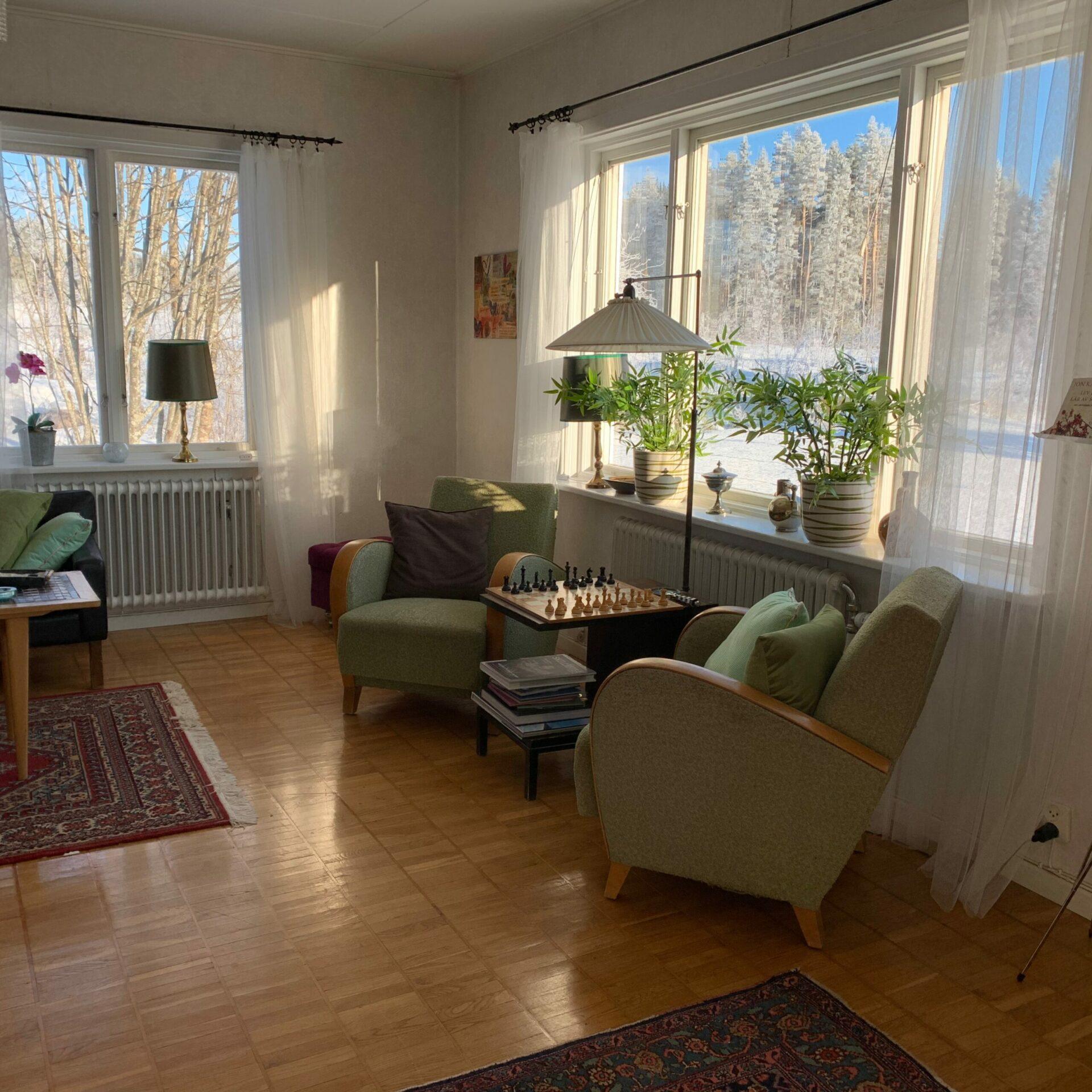 Salongen i Villa Insikt